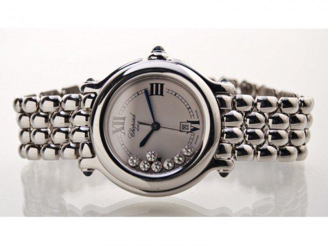 177: Chopard Diamond Stainless Happy Sport  Wristwatch