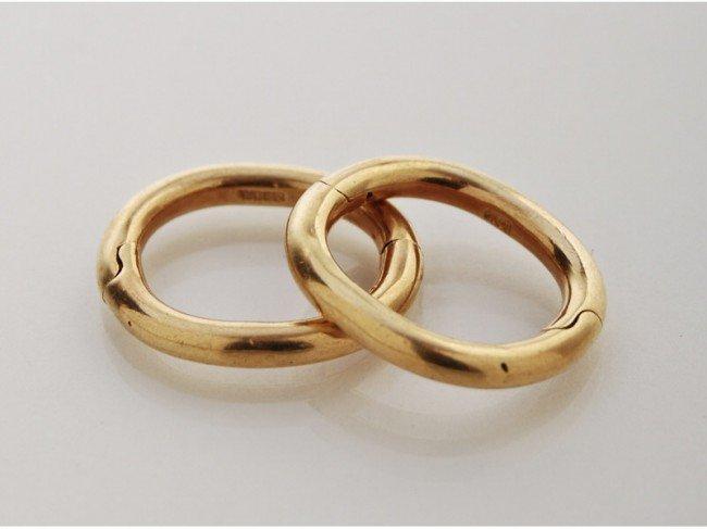 178: Pair of Signed Webb 18K Karat Gold Scarf Rings
