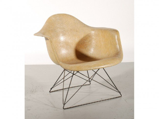 187A: Eames LAR Cats Cradle Base Rope Edge Lounge Chair