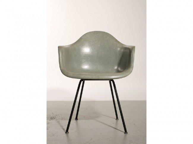 187C: Eames DAH Seafoam Green Fiberglass Shell Chair