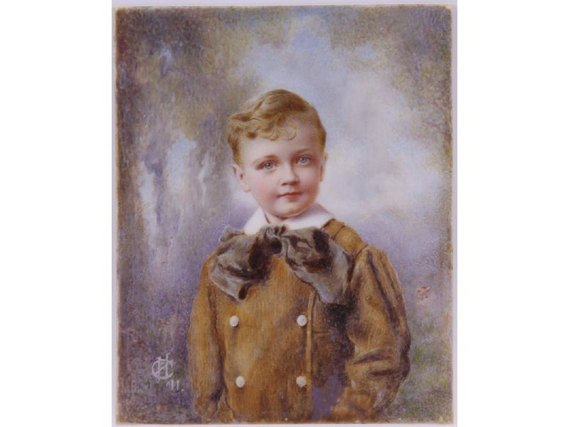 4: Miniature 19C Oil Painting on Ivory of Young Boy