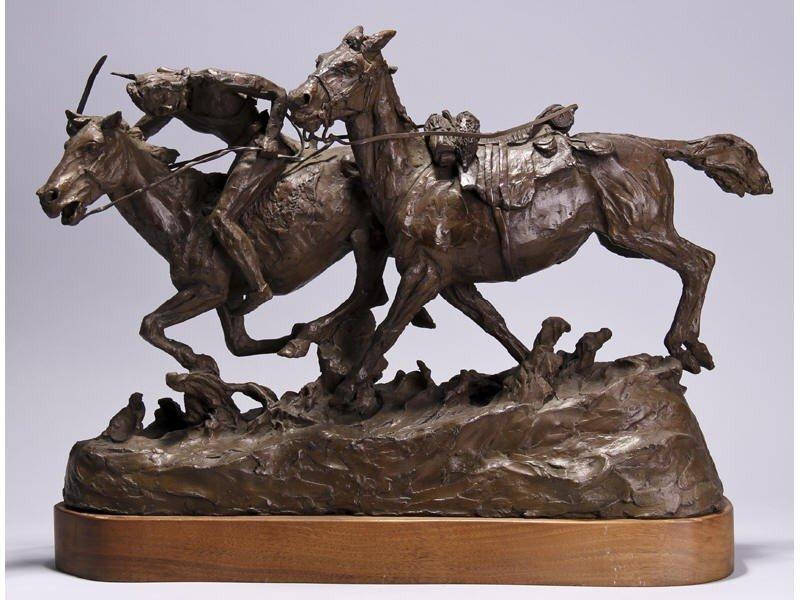 14: Gib Herrick Bronze Native American Indian Sculpture