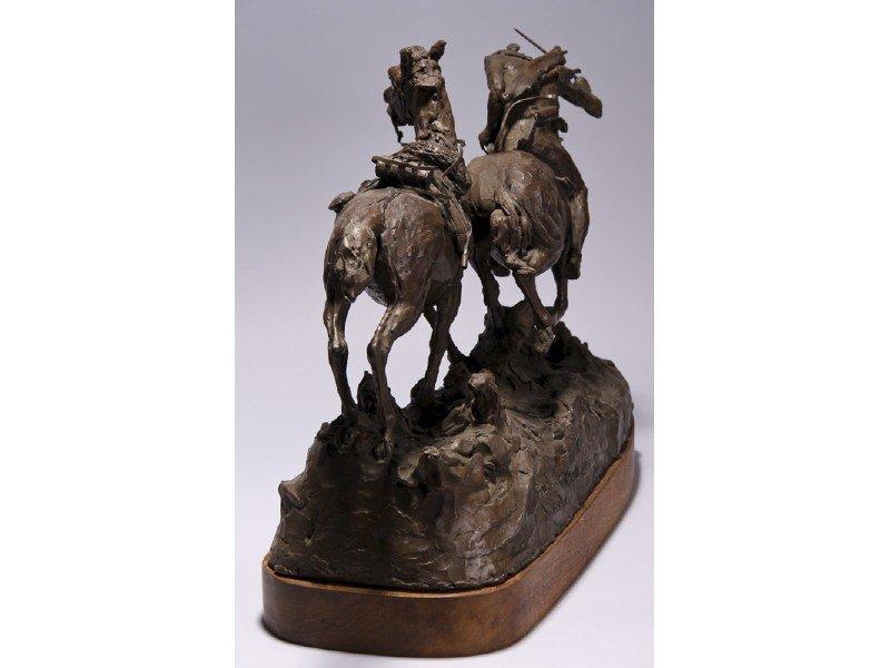 14: Gib Herrick Bronze Native American Indian Sculpture - 4
