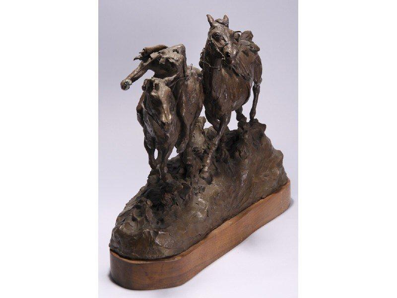 14: Gib Herrick Bronze Native American Indian Sculpture - 5