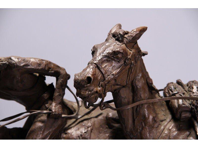 14: Gib Herrick Bronze Native American Indian Sculpture - 6