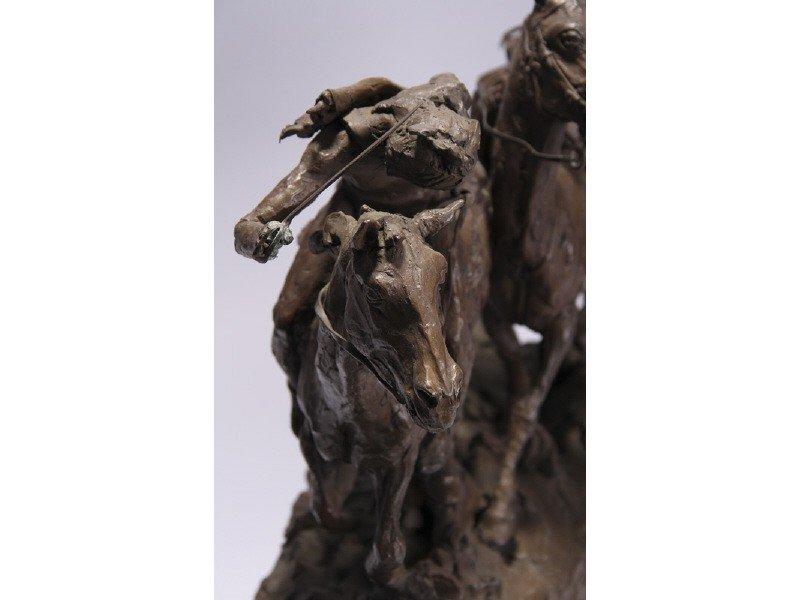14: Gib Herrick Bronze Native American Indian Sculpture - 7