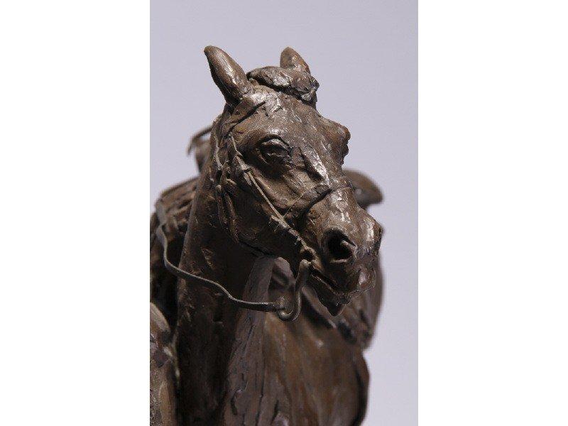 14: Gib Herrick Bronze Native American Indian Sculpture - 8