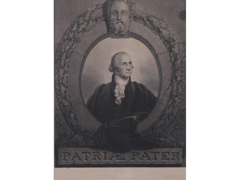 21: Rembrandt Peale G. Washington Patriae Pater Print