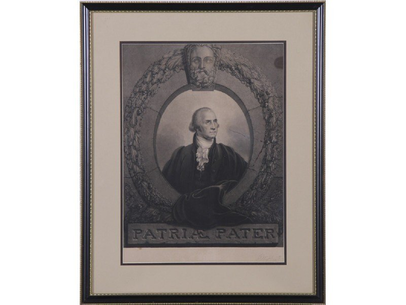 21: Rembrandt Peale G. Washington Patriae Pater Print - 2