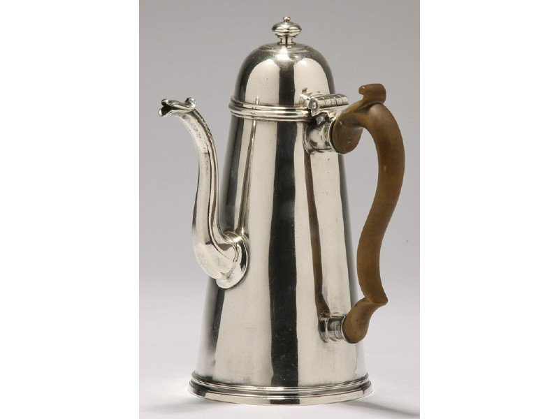 25: Georgian 18C Sterling Lighthouse London Coffee Pot