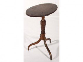 Cherry Spider Leg 19C Ring Turned Oval Tilt Table