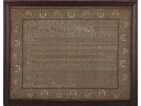 Marietta Sparhawk  1812 Alphabet Verse Sampler