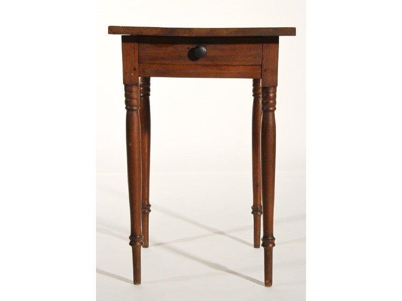 58: Sheraton 19th Century Cherry One Drawer Stand