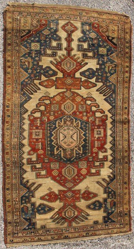 """59: Semi Antique Caucasian Oriental Long Rug 7'6 x 4'2"""""""