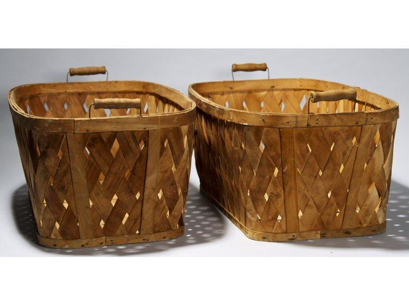 "61: Pair 1940's Bassinet - Hawkeye 30"" Laundry Baskets"