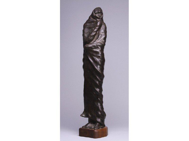 63: Lincoln Fox Bronze Sculpture Native American Woman