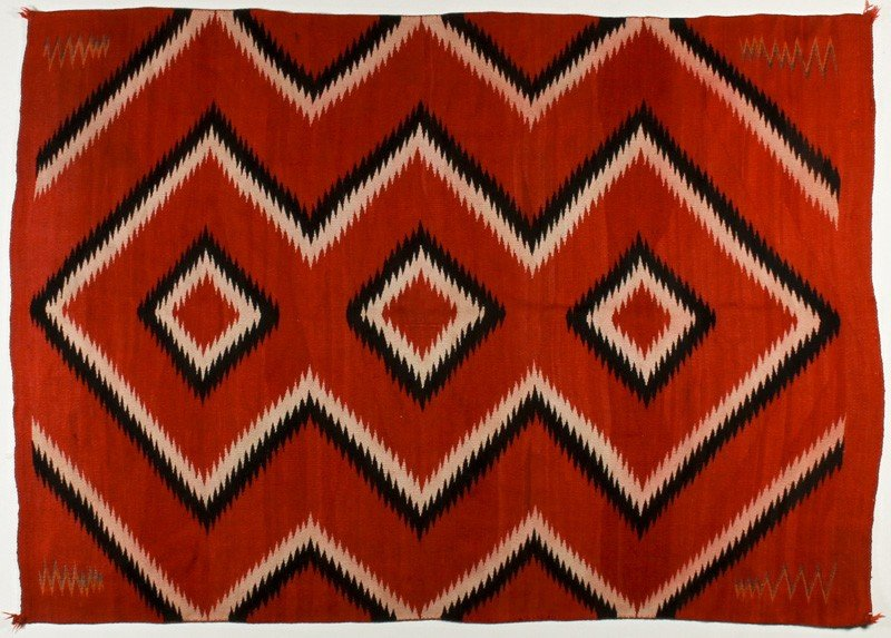 73: Old Navajo Native American Indian Eye Dazzler Rug