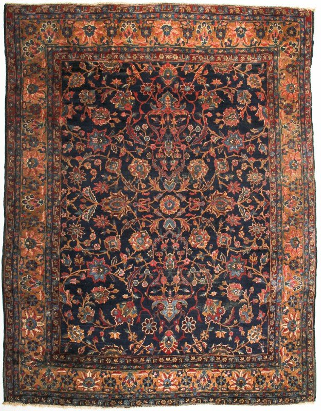86: Old Persian Malayer Oriental Rug Carpet  10' x 8'