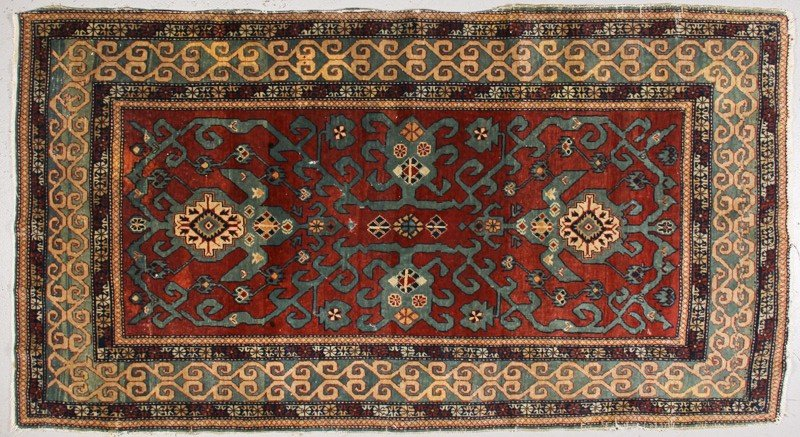 91: Semi Antique 1920s Persian Oriental Rug 6'2 x 3'3""