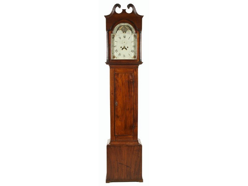 94: Federal 19C New Jersey  Mahogany Tall Case Clock