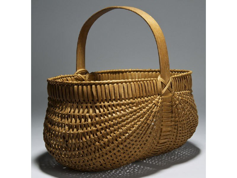 101: Old Melon Ribbed 19C  Buttocks 16 Basket""