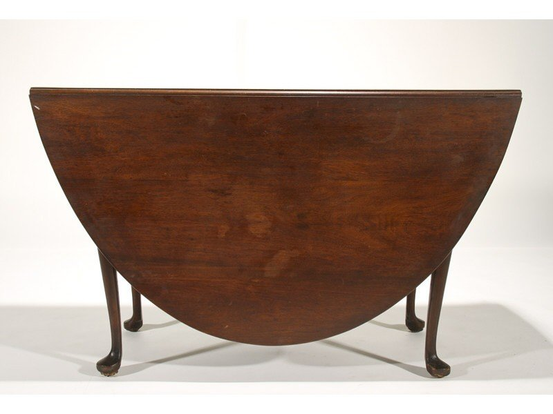 104: Queen Anne 19C Mahogany Dropleaf  Dining Table
