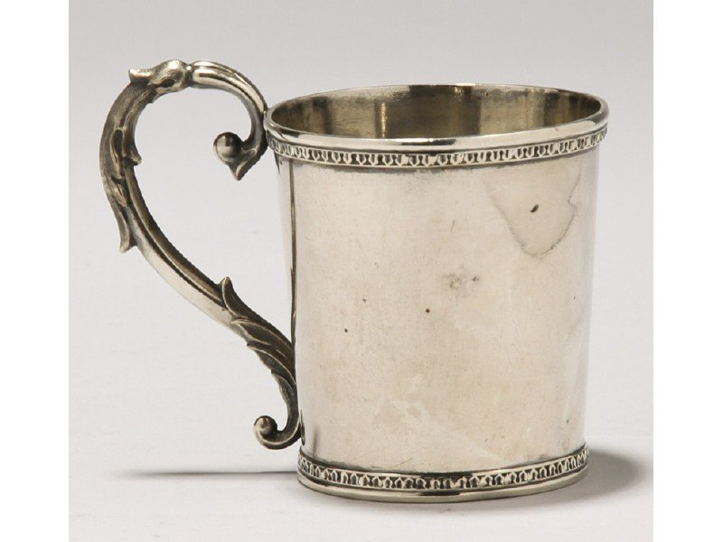 108: American Coin Silver 1840 Childs Towle Myers Cup