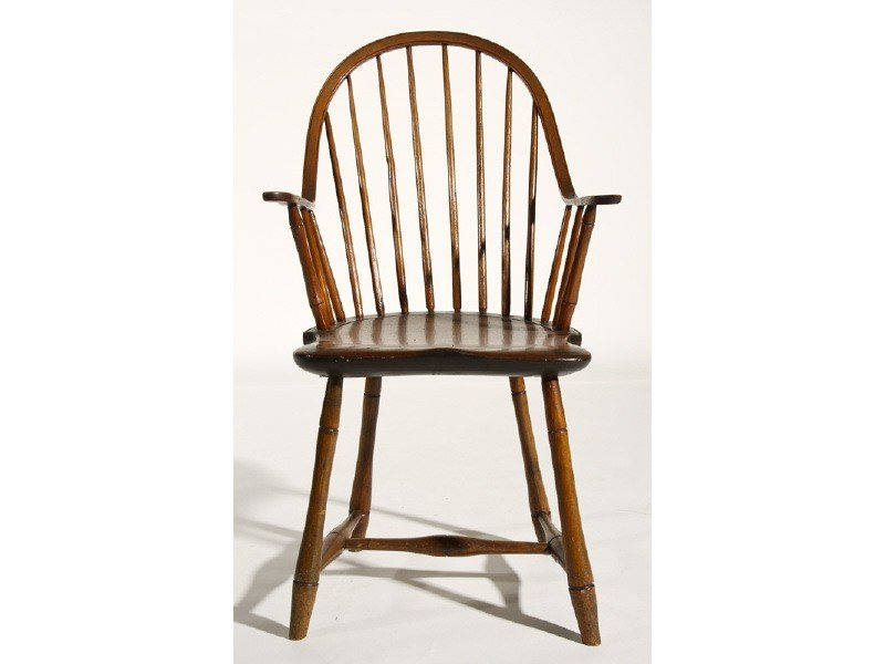 117: Continuous Arm 19C Windsor Chair Bamboo Turned