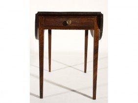 Hepplewhite 19C Antique Inlaid Pembroke Table