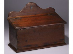 Pine 19th Century Dovetailed Hanging Lift Wall Box