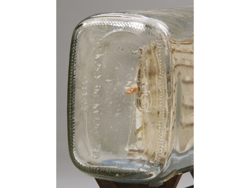 134: Antique 1923 Glass Five Masted Ship in a Bottle - 8