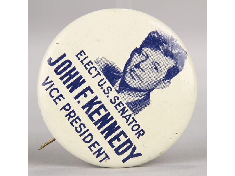 135: Original John F. Kennedy  Vice President Pin Back