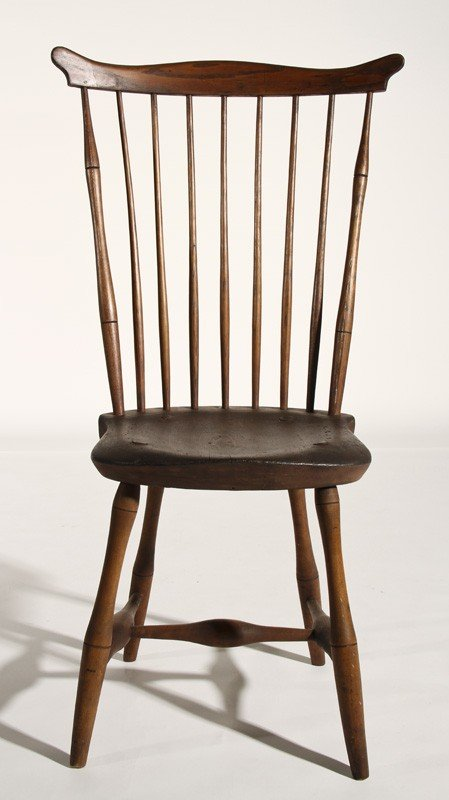 136: Fan Back Bamboo Turned 19C Windsor Side Chair