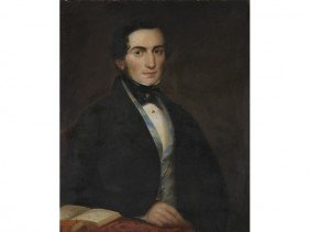Early Portrait 1845  William Tinsley Oil Painting
