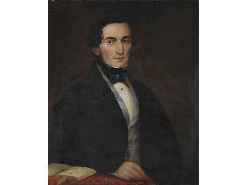 142: Early Portrait 1845  William Tinsley Oil Painting