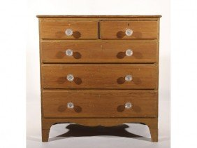 New Hampshire 19C Bracket Foot Chest Pine