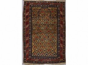 Fine 1860 Antique Shirvan Oriental Prayer Rug