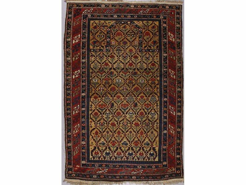 148: Fine 1860 Antique Shirvan Oriental Prayer Rug