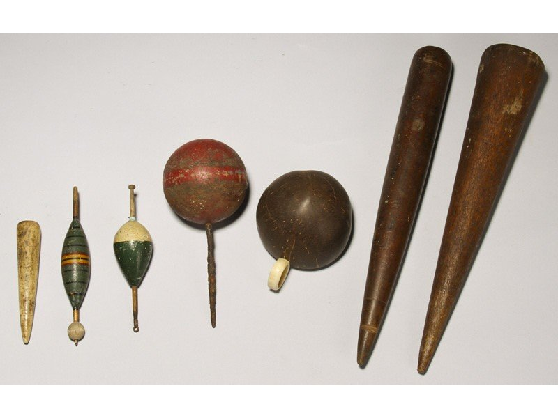 152: Marine Items 19C  Whale & Wood Fids, Coconut Cup