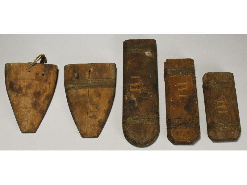 155: Whaling Ship 19C Nimrod Wooden 19C Knife Sheaths