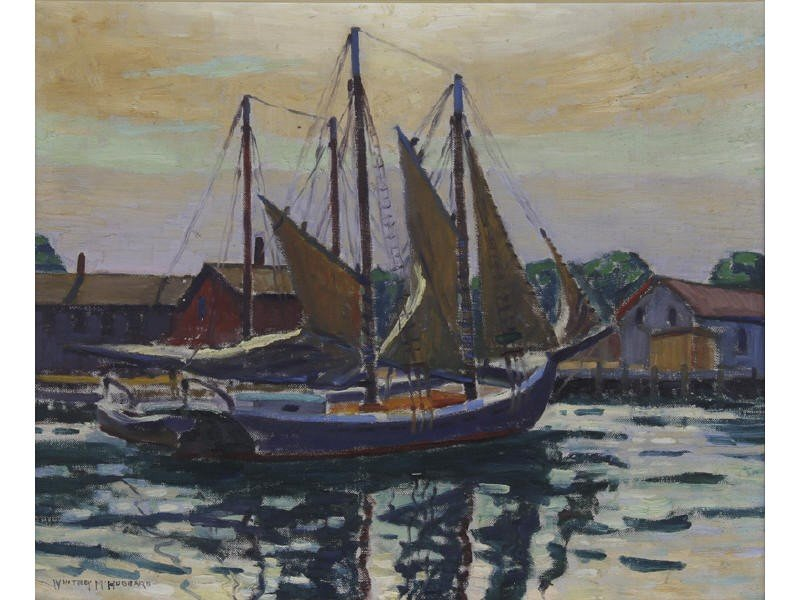 162: Whitney Myron Hubbard Greenport Harbor Painting