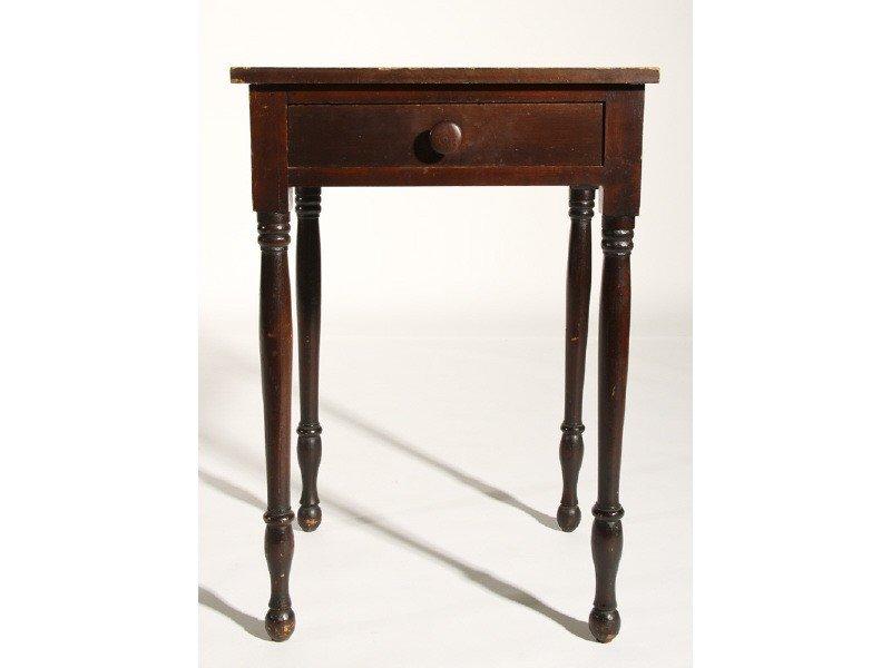 170: Sheraton 19th Century One Drawer Pine Stand