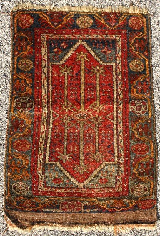 "179: Turkish Ladik  Double Niche Prayer Rug 2'10""x1'11"""