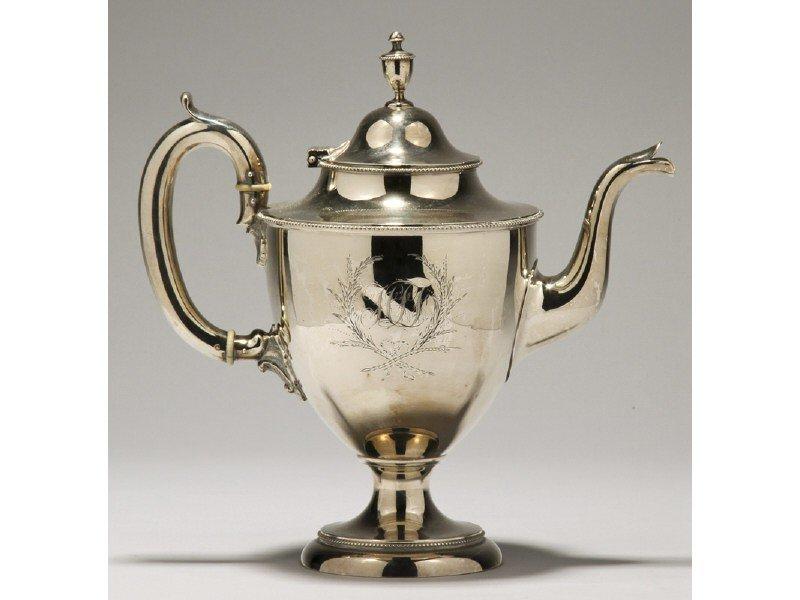 182: Philadelphia 1850 Bailey & Co. Coin Silver Teapot