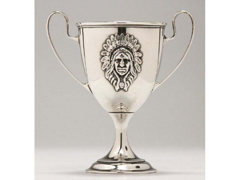 183: Gorham Sterling Indian Chief Loving Cup 1880's