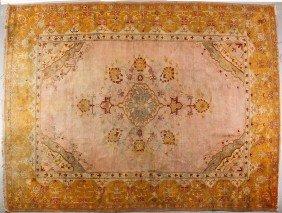 "Semi Antique Oushak Oriental Carpet 13'4 X 10' 2"""""