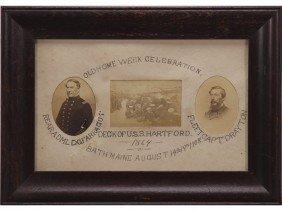 Photograph Adm. Farragut Capt Drayton USS Hartford