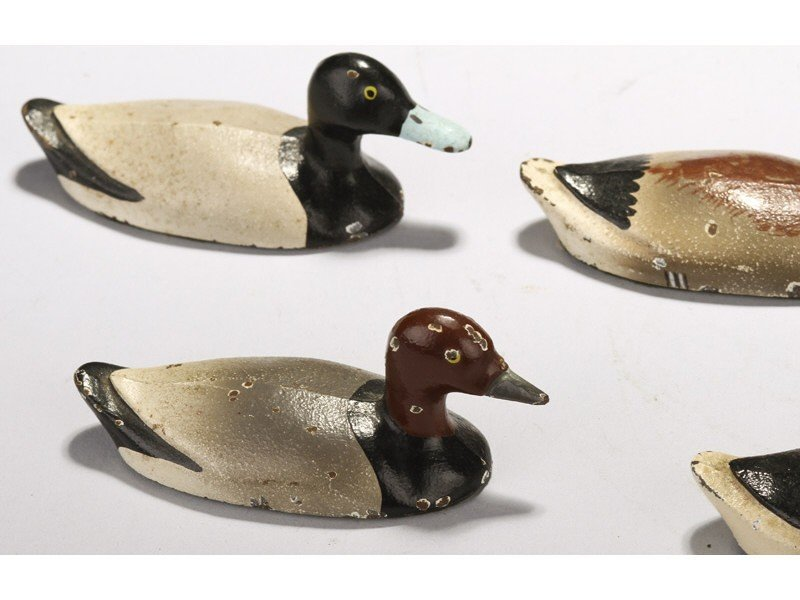 480: Five Miniature Painted Cast Iron Duck Paperweights - 3