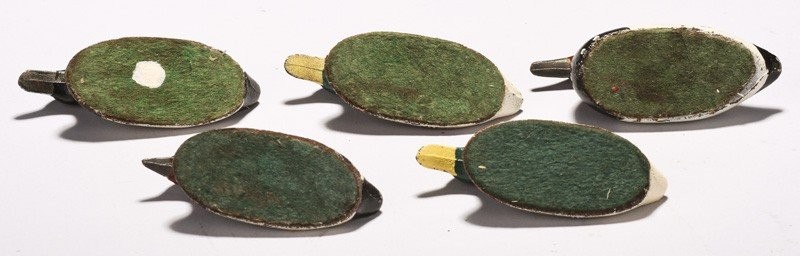 480: Five Miniature Painted Cast Iron Duck Paperweights - 8