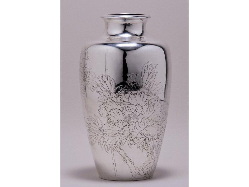 Signed Japanese 1920s Sterling Silver Vase